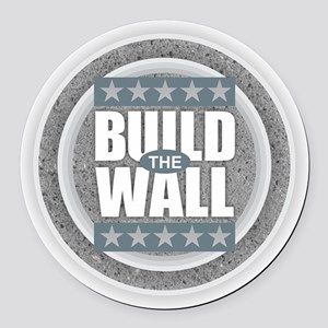 Build the Wall Round Car Magnet