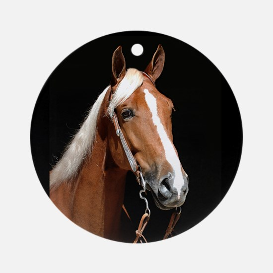Chestnut Horse Ornament (Round)