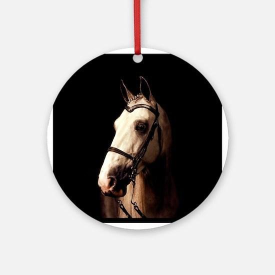 Champagne Horse Ornament (Round)