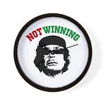 Gaddafi Not Winning Wall Clock