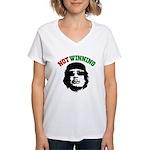 Gaddafi Not Winning Women's V-Neck T-Shirt
