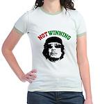 Gaddafi Not Winning Jr. Ringer T-Shirt