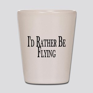 Rather Be Flying Shot Glass