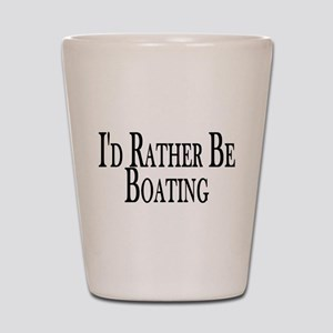 Rather Be Boating Shot Glass