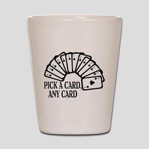 Pick A Card Shot Glass