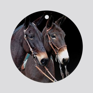 Mule Twosome Ornament (Round)
