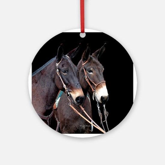 Mule Twosome Ornament (Round)