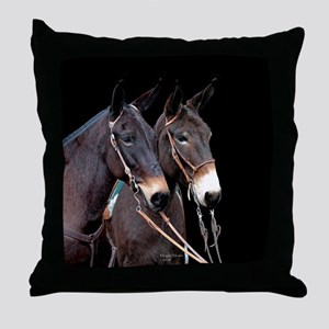 Mule Twosome Throw Pillow
