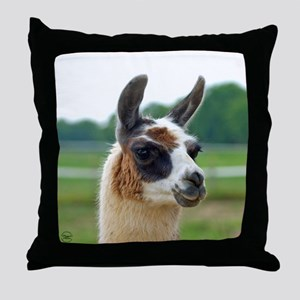 Spotted Llama Throw Pillow