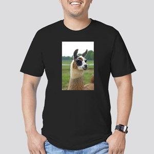 Spotted Llama Men's Fitted T-Shirt (dark)