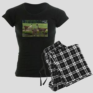 Llama Trio Women's Dark Pajamas