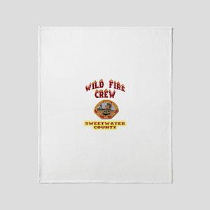 Sweetwater Wild Fire Crew Throw Blanket