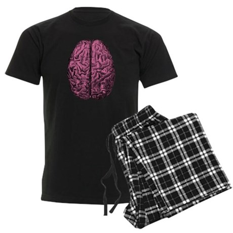 Human Anatomy Brain Men's Dark Pajamas