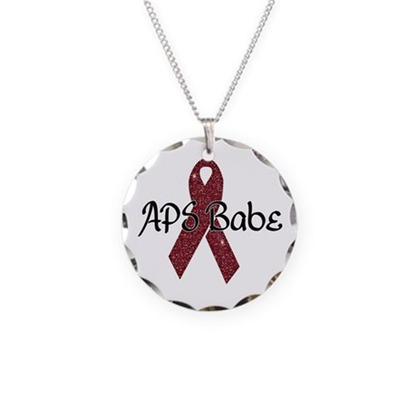 APS Babe Necklace Circle Charm