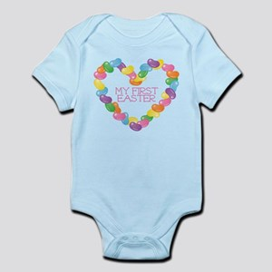 Jellybean Heart First Easter Body Suit