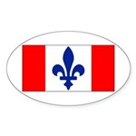 French Canadian Sticker (Oval 50 pk)