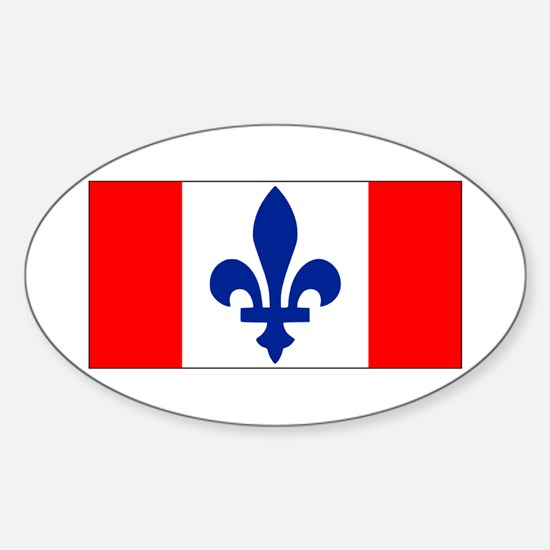 French Canadian Sticker (Oval)