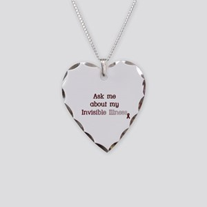 Invisible Illness - APS Necklace Heart Charm