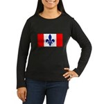 French Canadian Women's Long Sleeve Dark T-Shirt