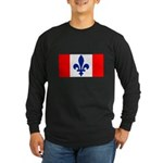 French Canadian Long Sleeve Dark T-Shirt