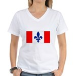 French Canadian Women's V-Neck T-Shirt