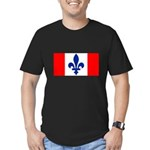 French Canadian Men's Fitted T-Shirt (dark)