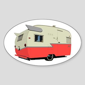 Vintage Shasta Trailer Oval Sticker