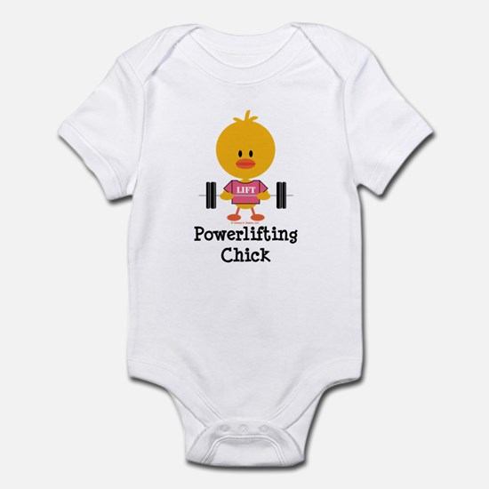 Powerlifting Chick Infant Bodysuit