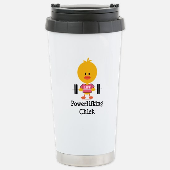 Powerlifting Chick Stainless Steel Travel Mug