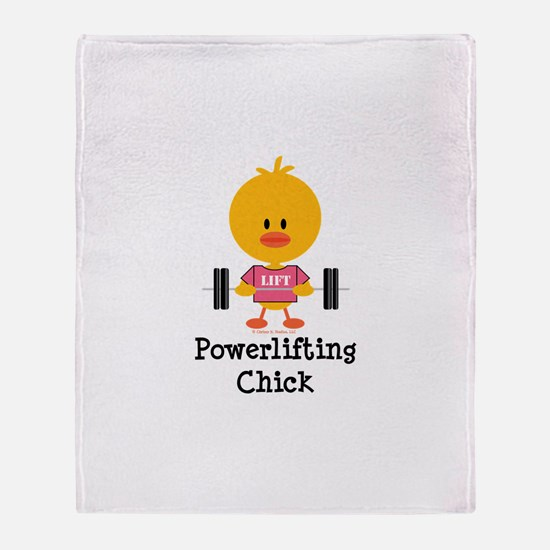 Powerlifting Chick Throw Blanket