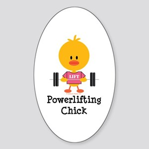 Powerlifting Chick Sticker (Oval)