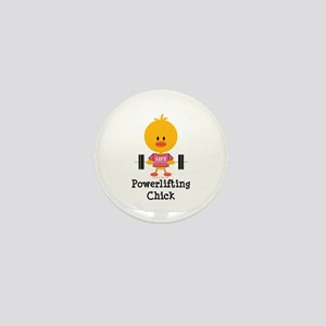 Powerlifting Chick Mini Button