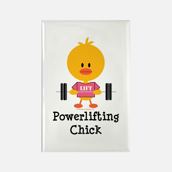 Powerlifting Chick Rectangle Magnet