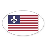 French American Sticker (Oval 50 pk)