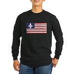 French American Long Sleeve Dark T-Shirt
