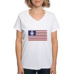 French American Women's V-Neck T-Shirt