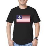 French American Men's Fitted T-Shirt (dark)