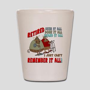 Retirement Memory Shot Glass