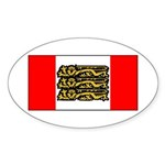 English Canadian Sticker (Oval 50 pk)