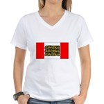 English Canadian Women's V-Neck T-Shirt