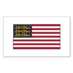 English American Sticker (Rectangle 50 pk)