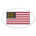 English American Sticker (Oval 50 pk)