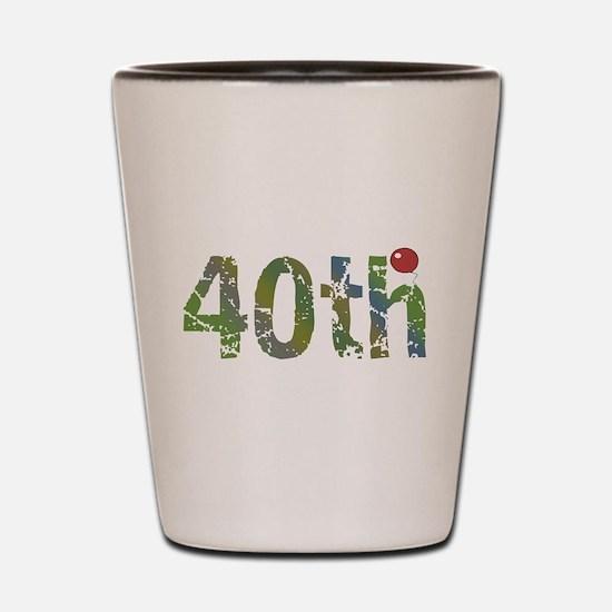 40th Birthday Shot Glass