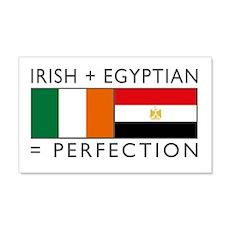 Irish Egyptian flags 22x14 Wall Peel