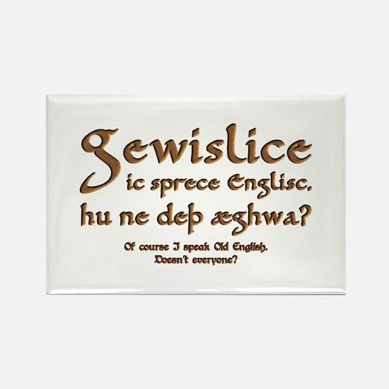 I Speak Old English Rectangle Magnet