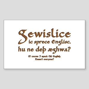 I Speak Old English Sticker (Rectangle)