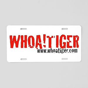 WHOA!TIGER cracked-logo Aluminum License Plate