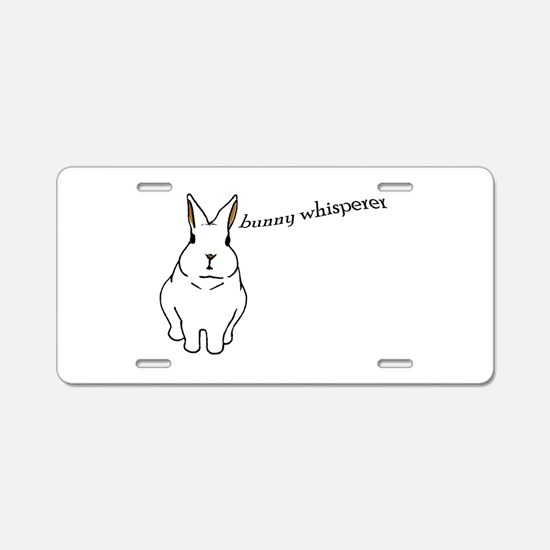 bunny whisperer Aluminum License Plate