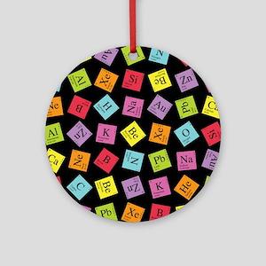 Periodic Elements Ornament (Round)