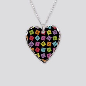 Periodic Elements Necklace Heart Charm